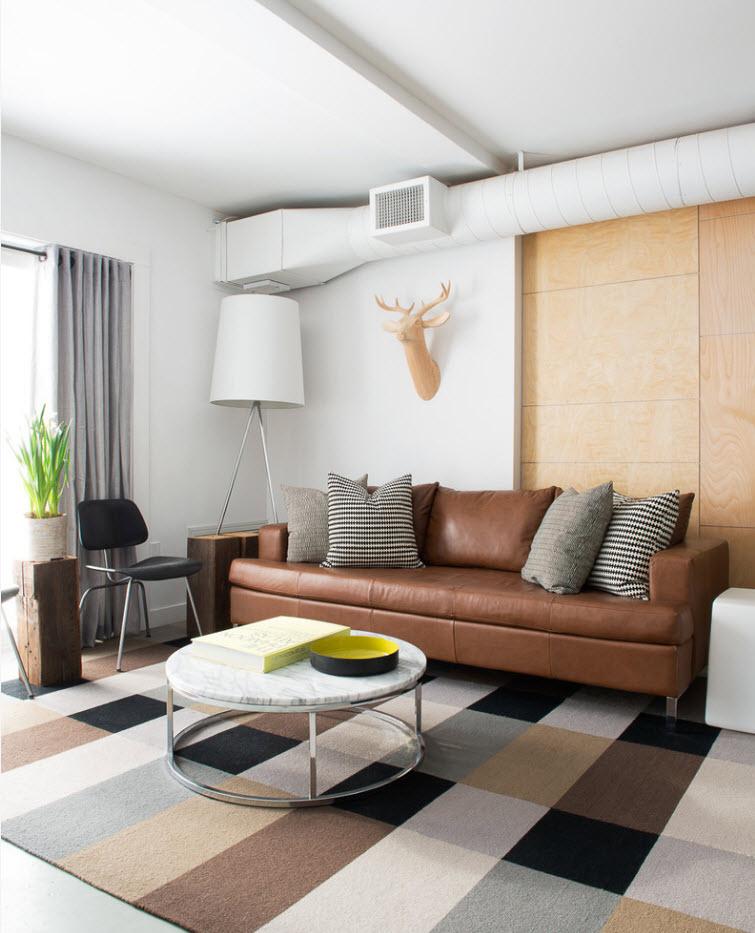 Установка дивана у стены