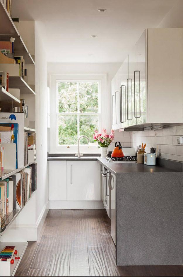 Планировка для узкой кухни