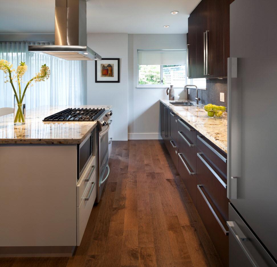 Оформление небольшой кухни