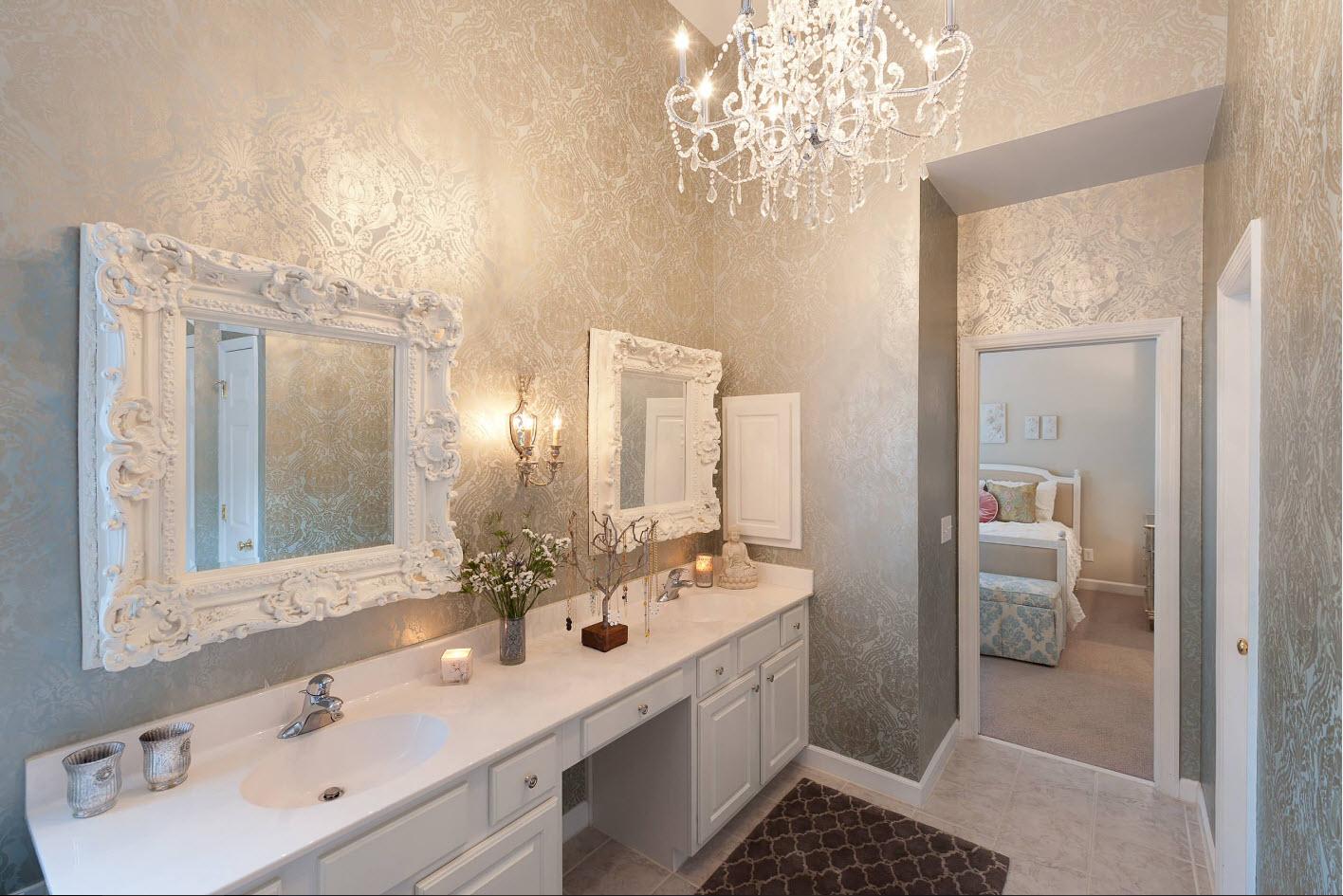 Классика в ванной комнате