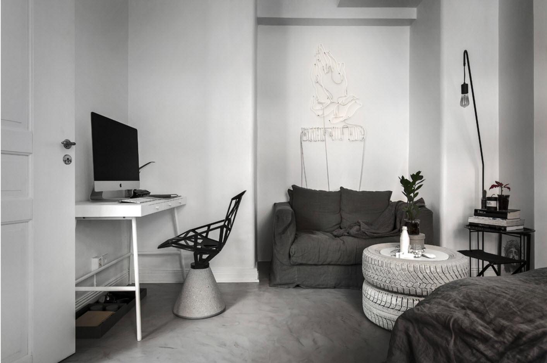 Бело-серый дизайн