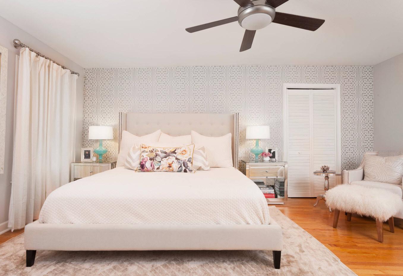 100 лучших идей дизайна: обои для спальни 2017 года на фото