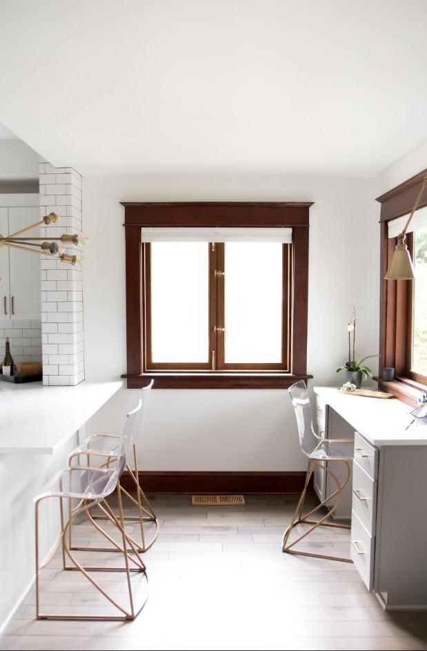 В белоснежной кухне