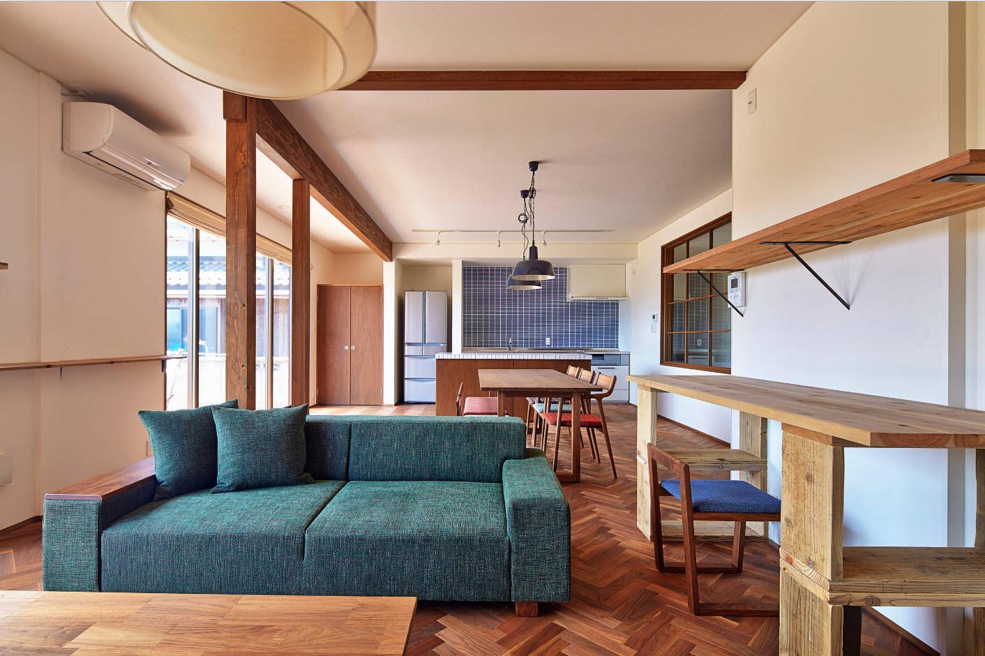 Кухня-столовая-гостиная в одном помещении