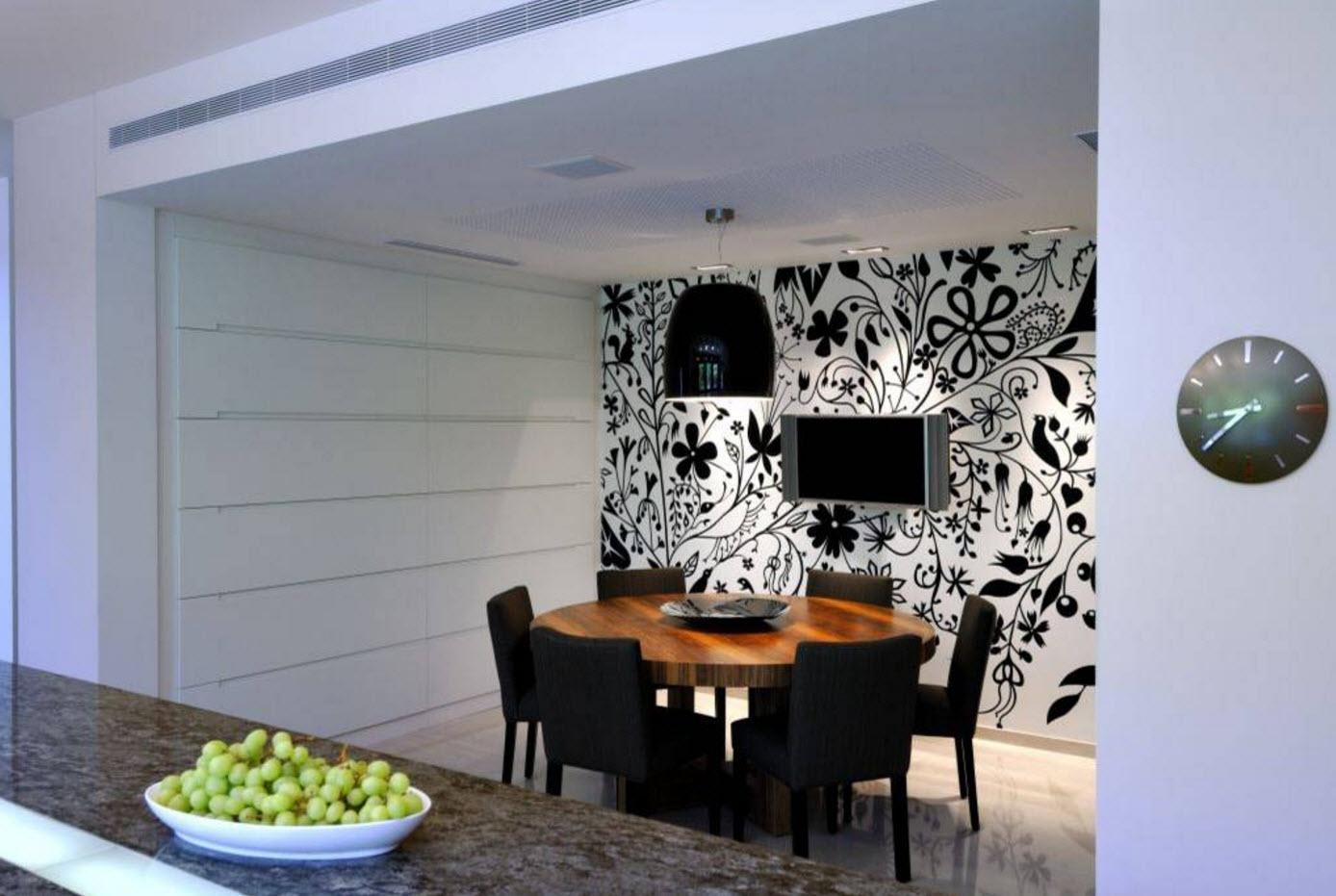 Черно-белый рисунок для стен