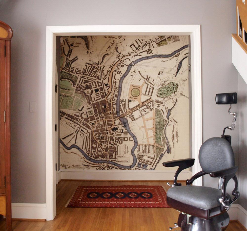 Карта в качестве отделки