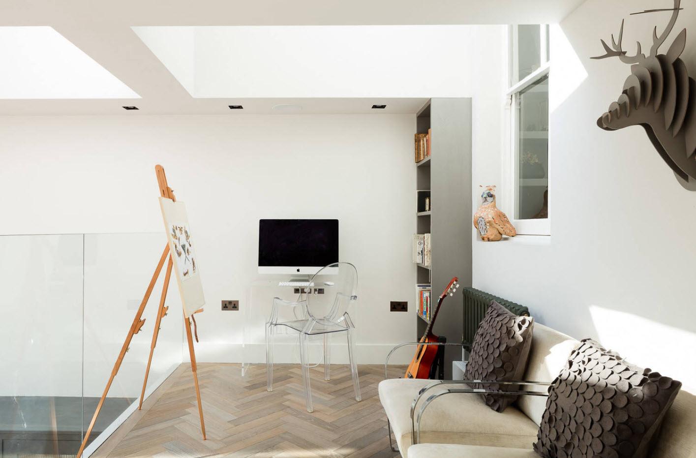 Кабинет с мягкой мебелью