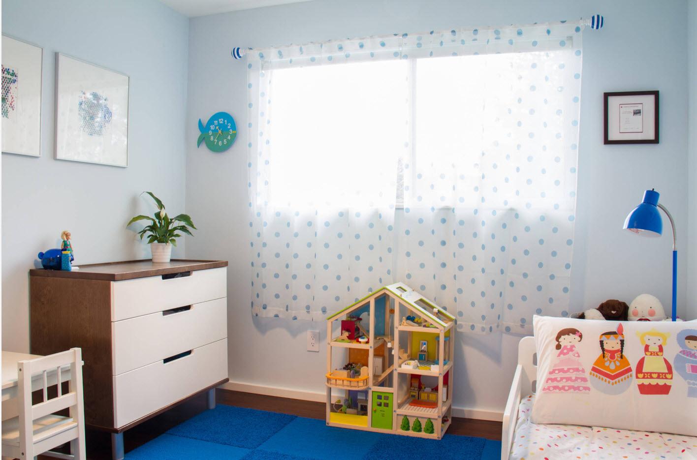 Светлый дизайн детской спальни