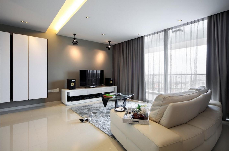 Серый цвет для гостиной