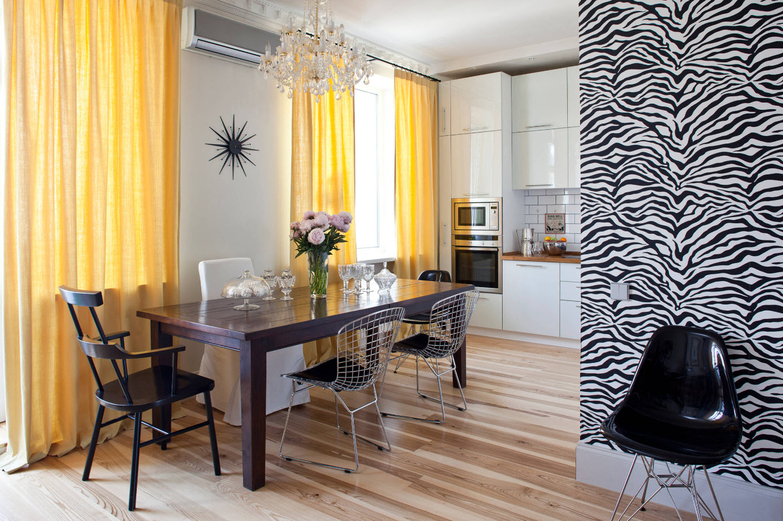 Ярко-желтые шторы