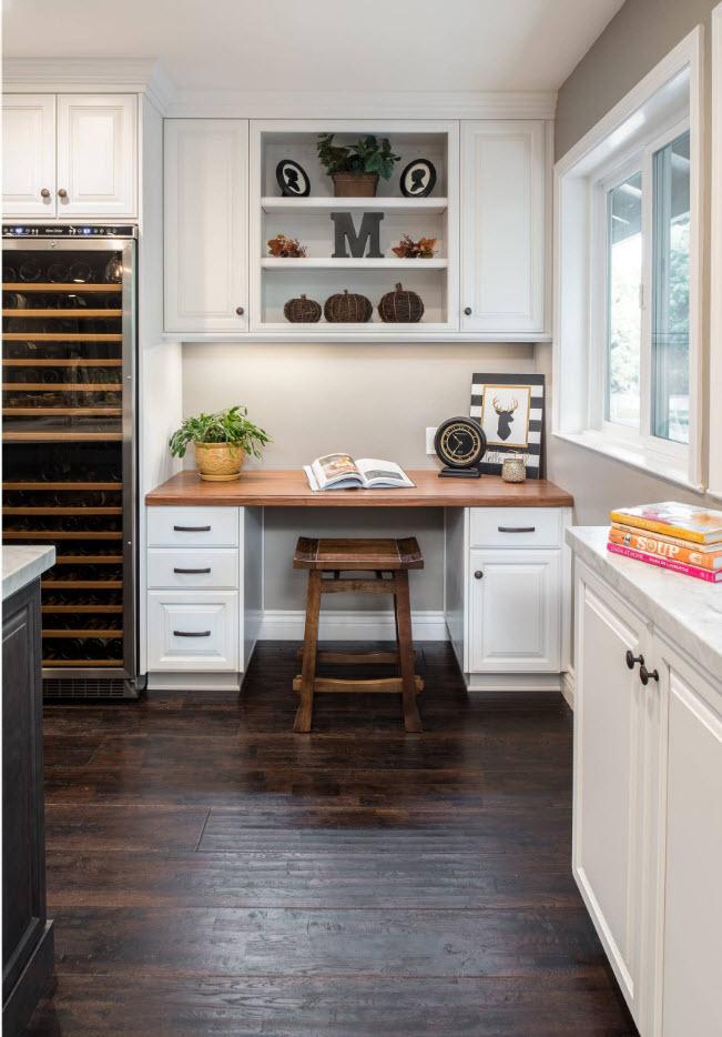 Домашний офис в кухне