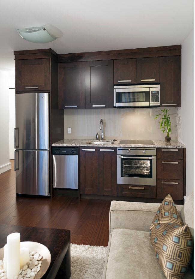 Кухонная зона в гостиной