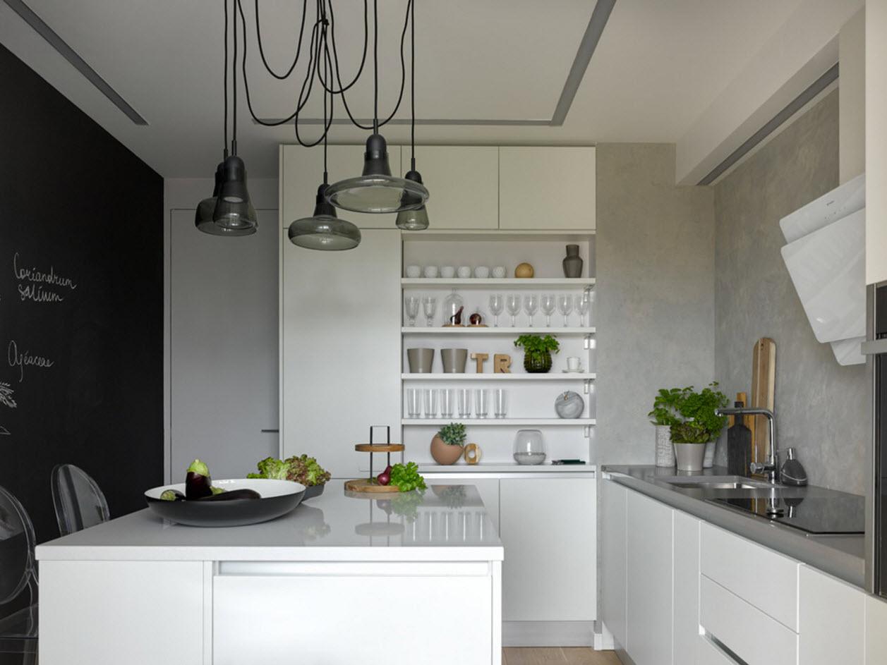 Угловая планировка для небольшой кухни