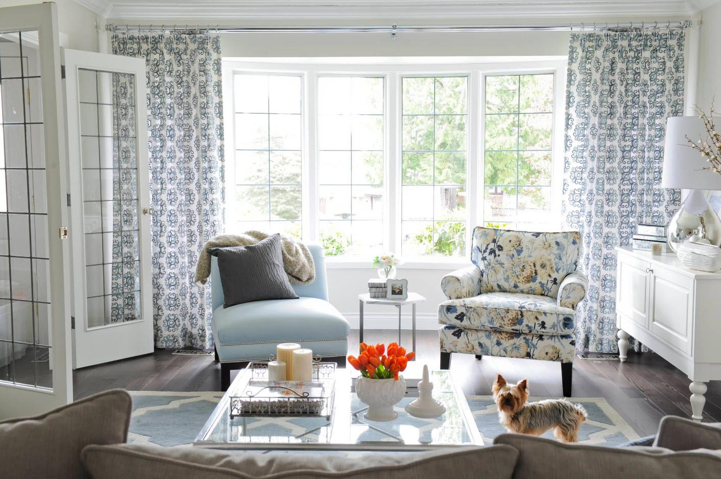 Интерьер и дизайн штор в гостиной Красивые и современные 17