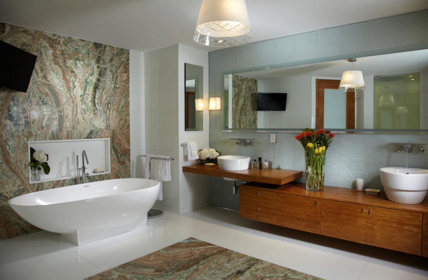 Необычное оформление ванной