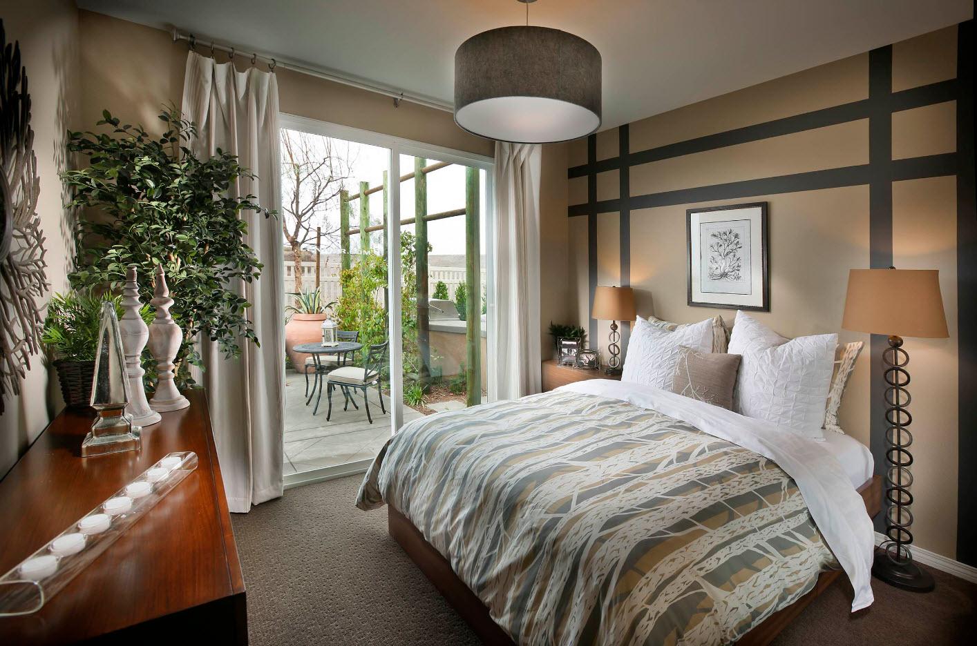 Природные оттенки для спальни