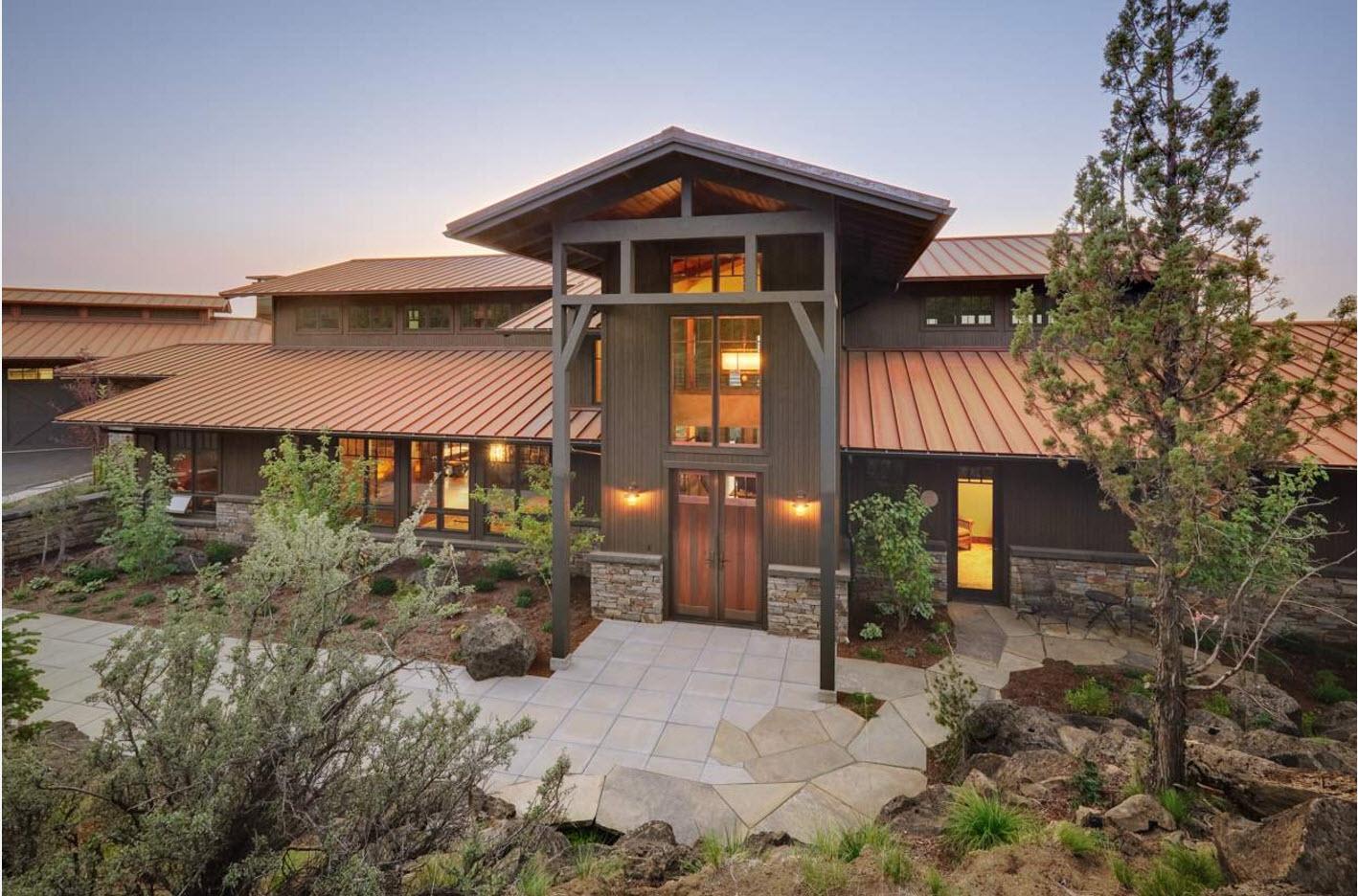 Комбинированная крыша для частного дома