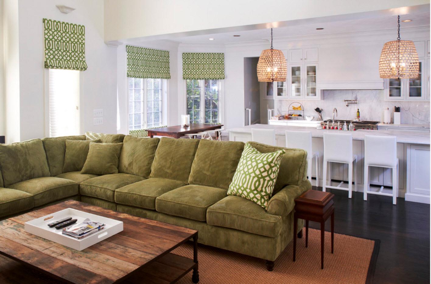 Мягкая мебель как зонирующий элемент