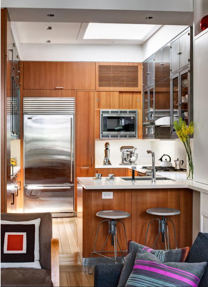 Дизайн небольшой кухонной зоны