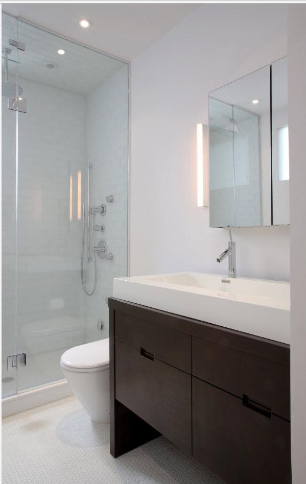 Современный дизайн для маленькой ванной