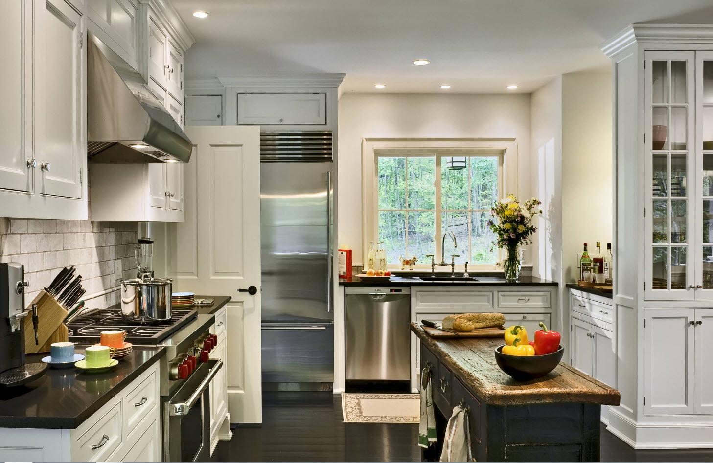 Освещение в кухонном помещении