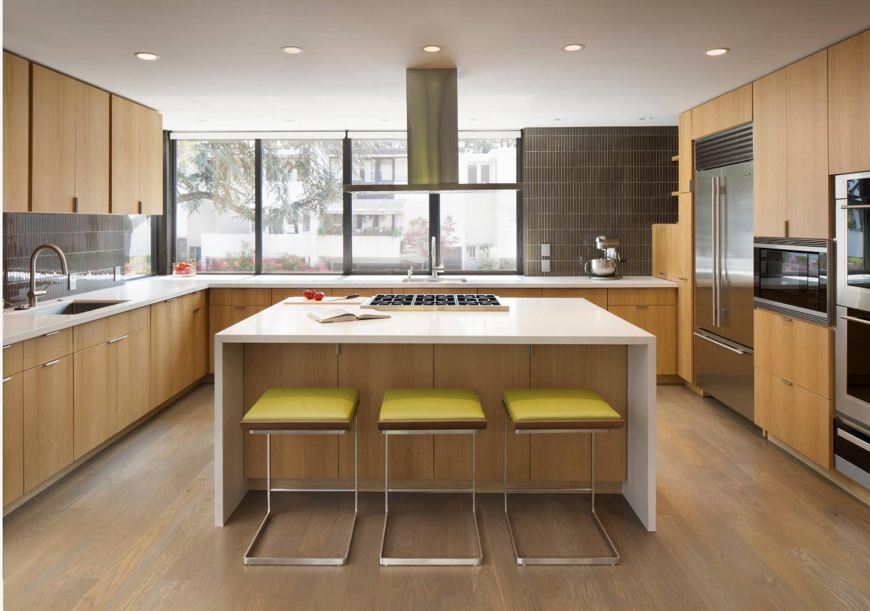 П-образная компоновка мебели