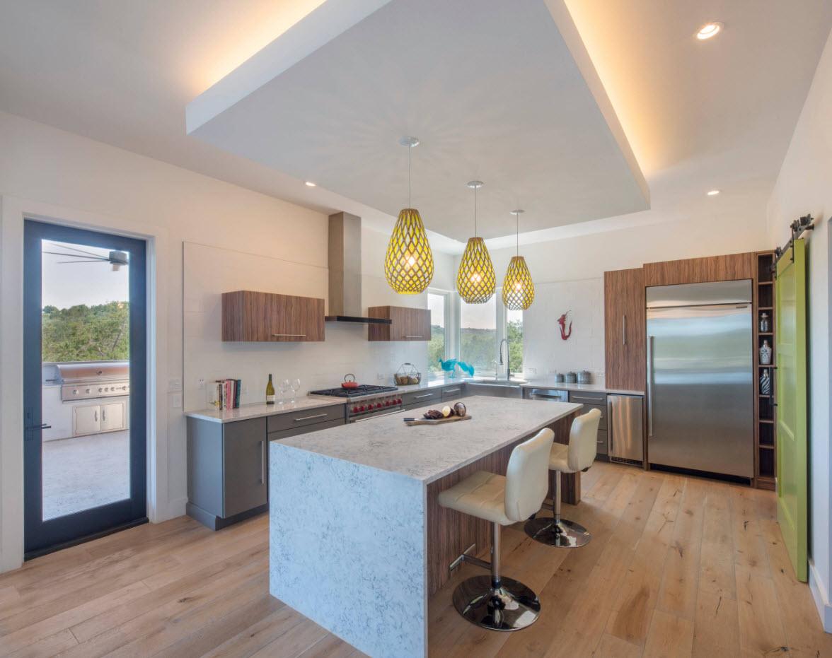 Подсветка в современной кухне
