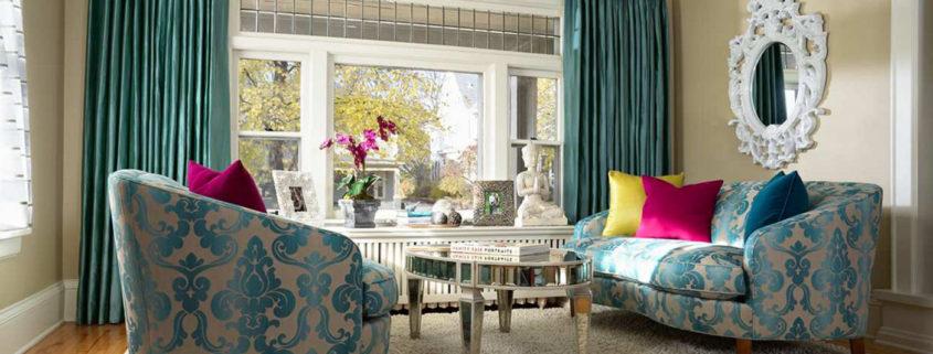 Интерьер и дизайн штор в гостиной Красивые и современные 86