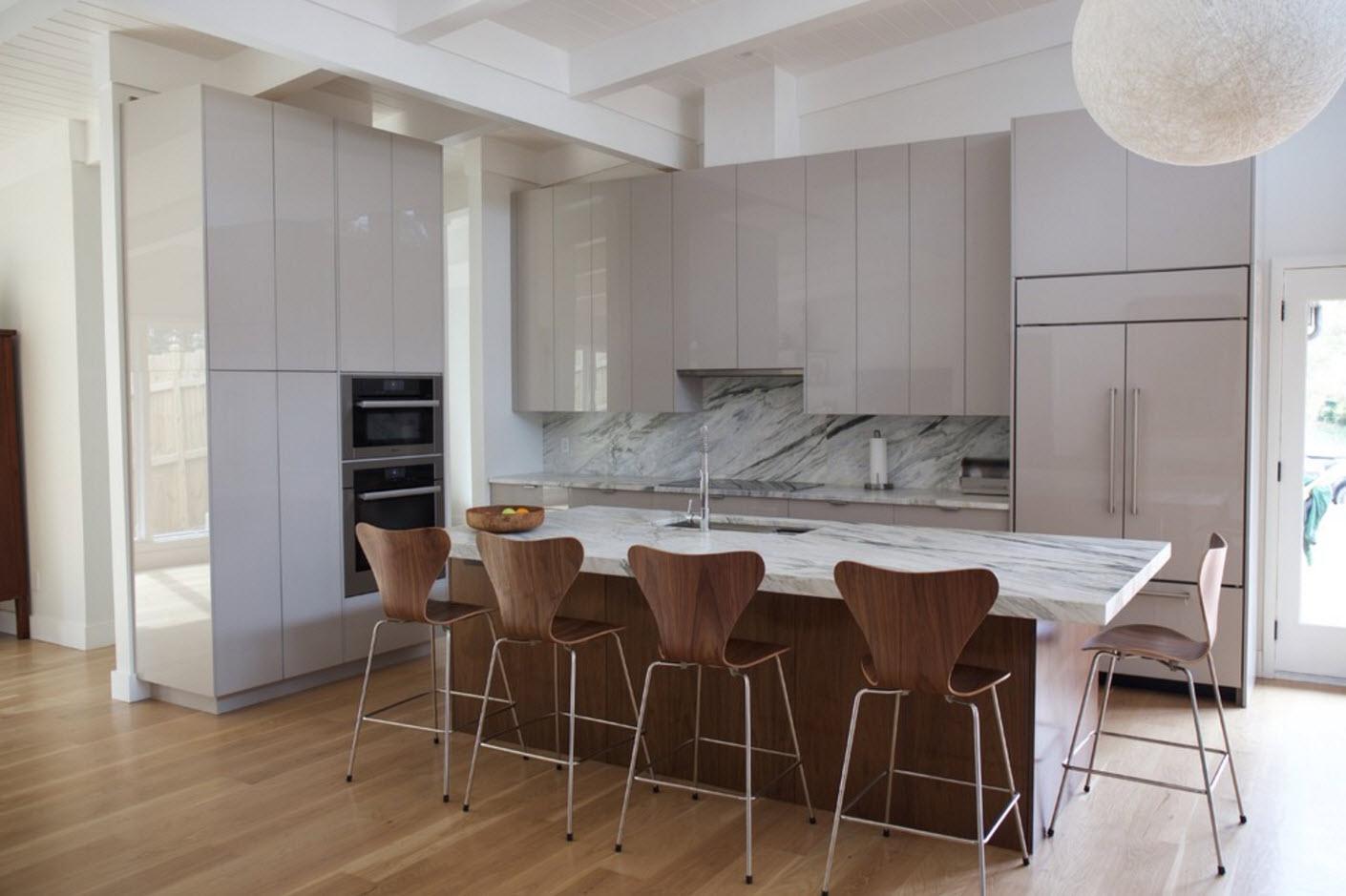 Гладкие фасады для современной кухни