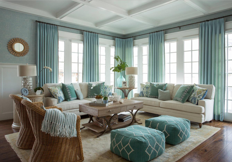 Интерьер и дизайн штор в гостиной Красивые и современные 1
