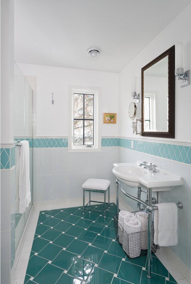 Бело-голубой дизайн