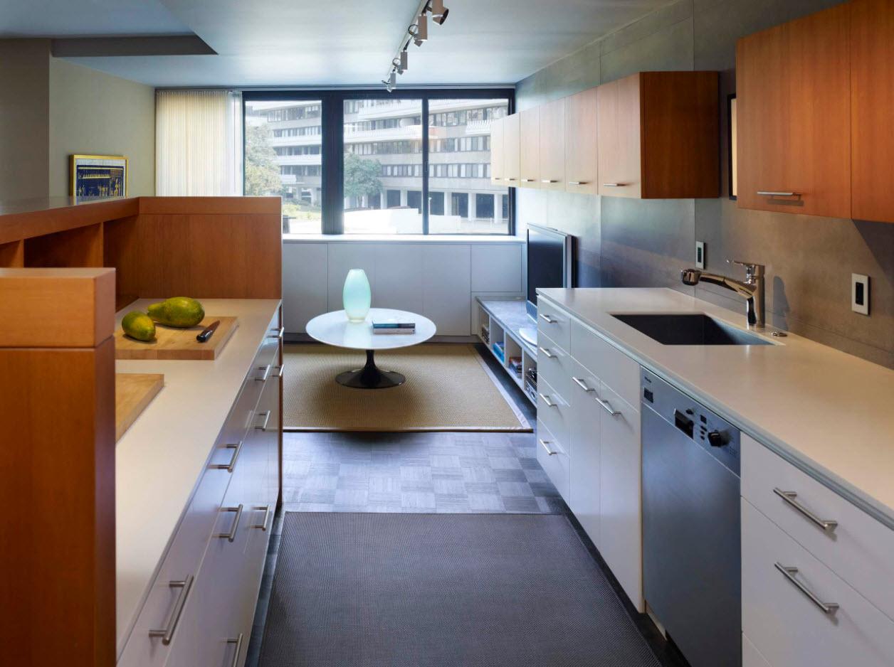 Продолжение кухни в гостиной