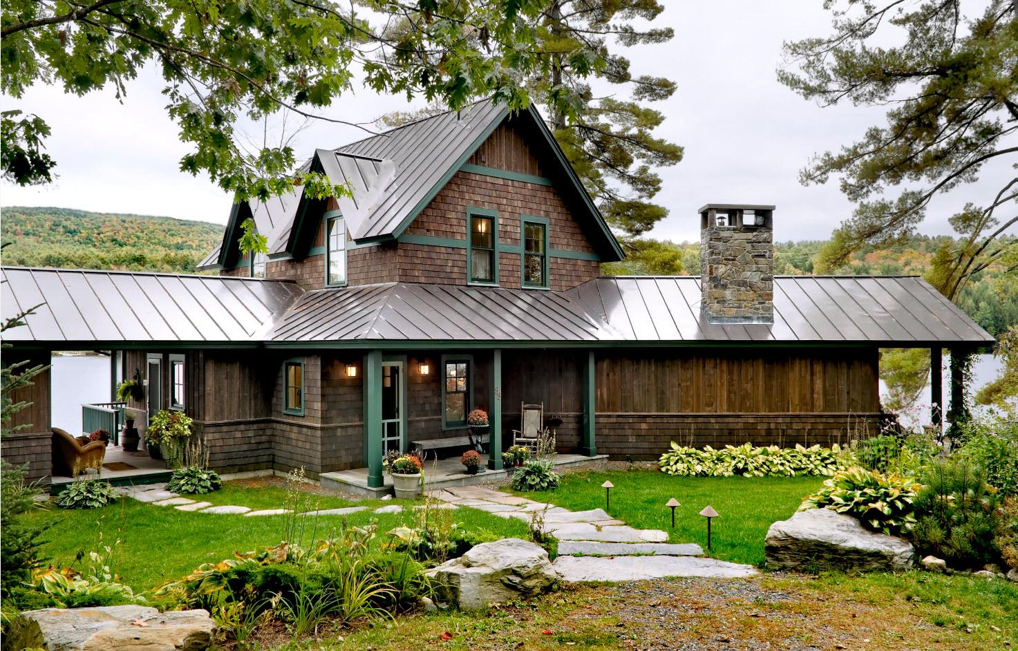 Комбинирование материала крыши