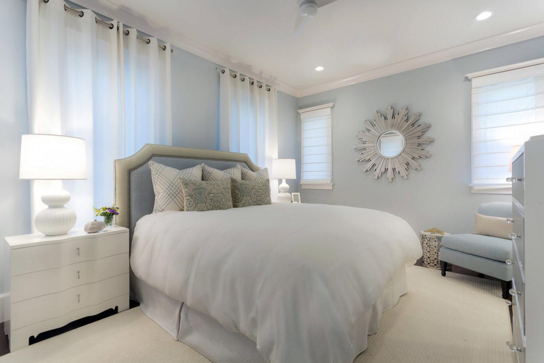 Белый цвет для интерьера спальни