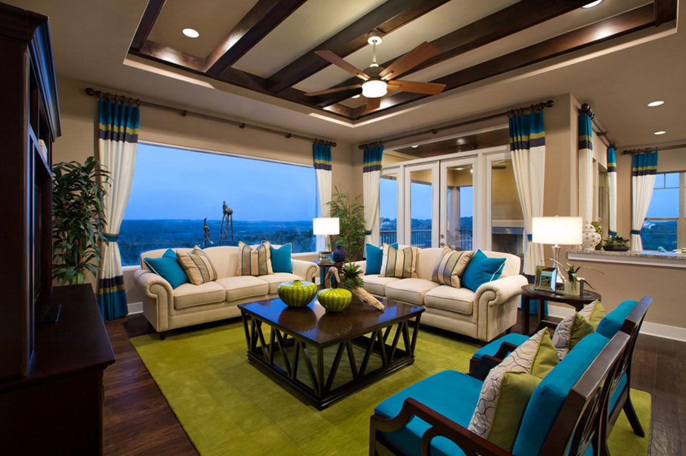 Яркий дизайн зала