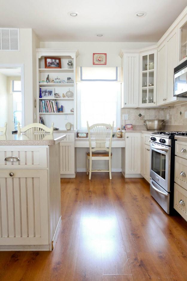 Акцентный дизайн для белой кухни