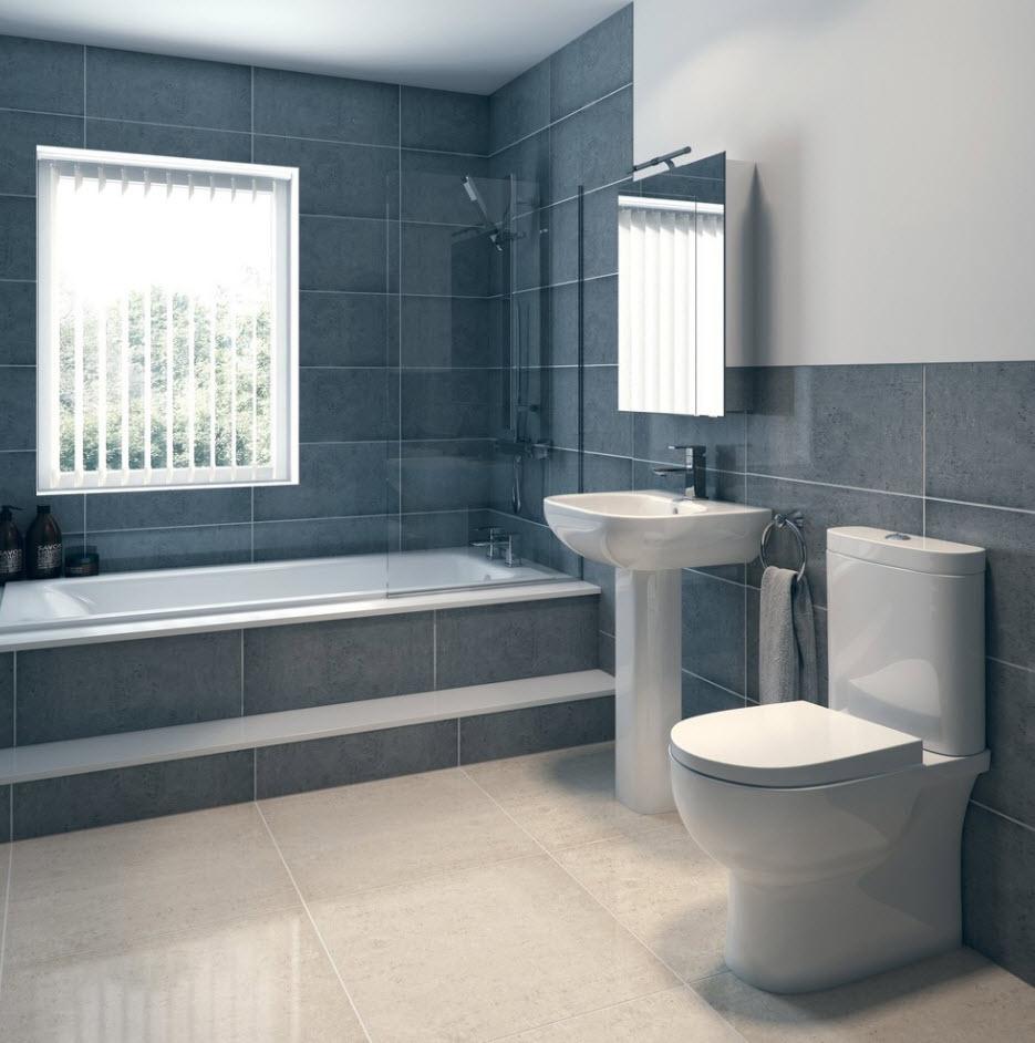 Ванная комната в серой гамме