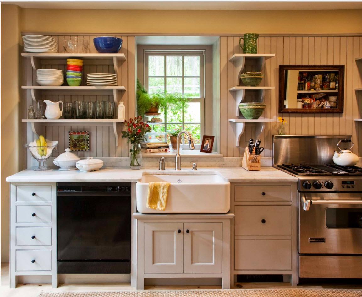 Светлые тона для кухонного дизайна