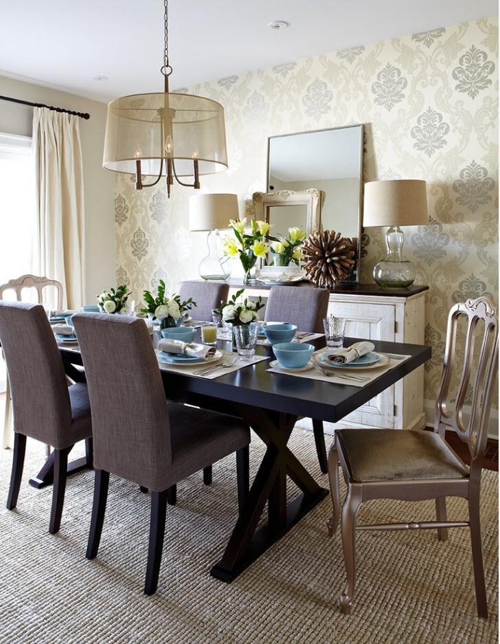 Светлый дизайн столовой