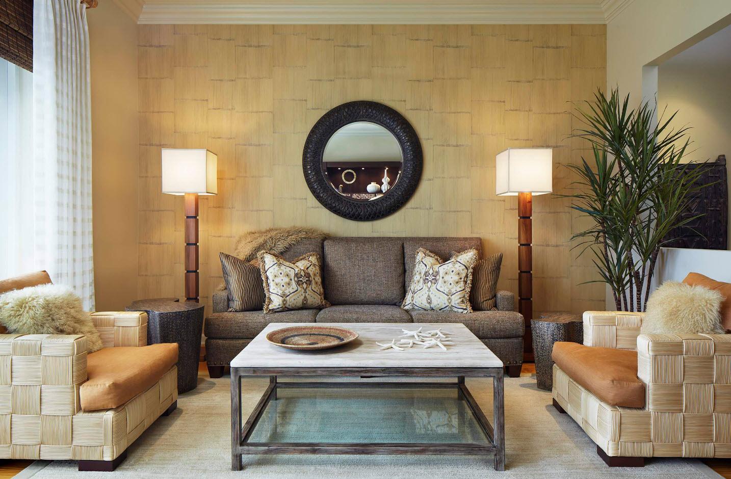 Выбор обоев для современной гостиной