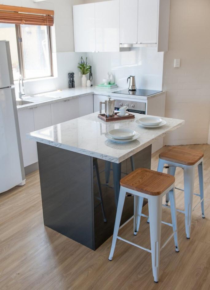 Акцент на кухонный остров