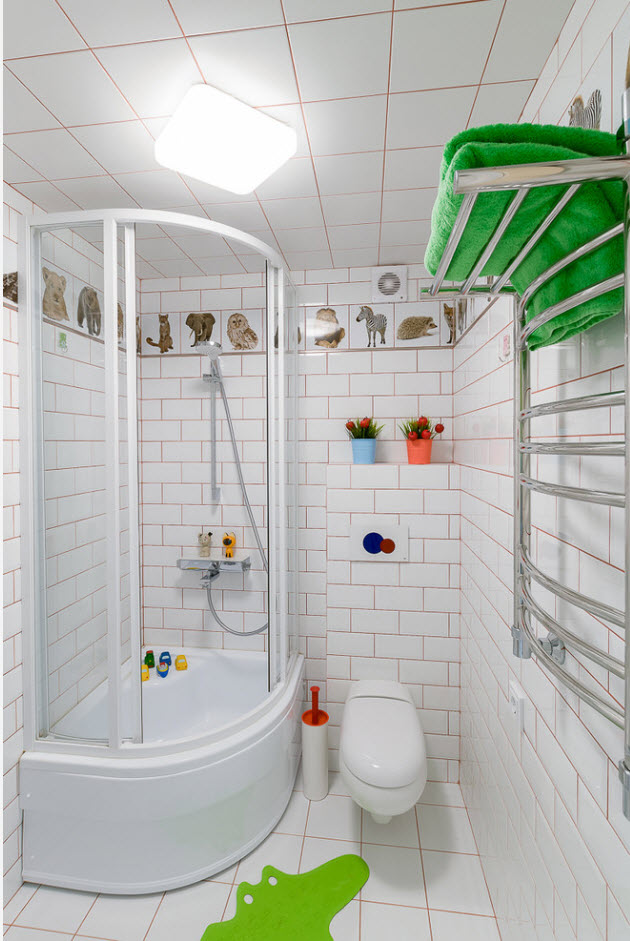 Ванная возле детской комнаты
