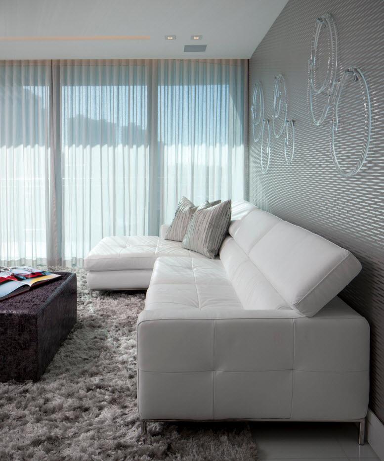 Светлые поверхности и текстиль
