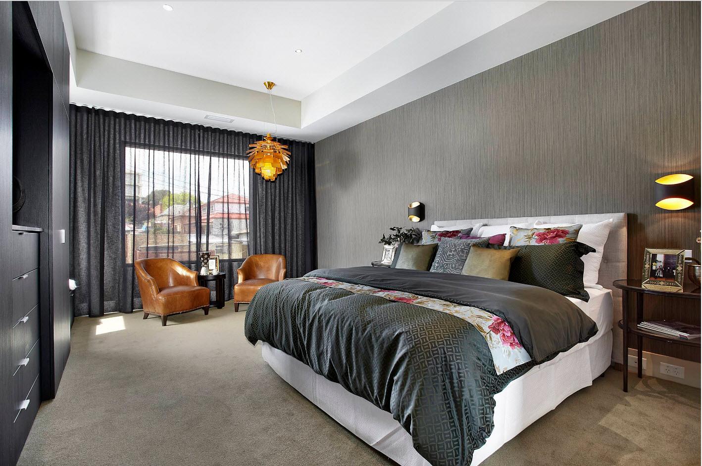Спальня и серая палитра