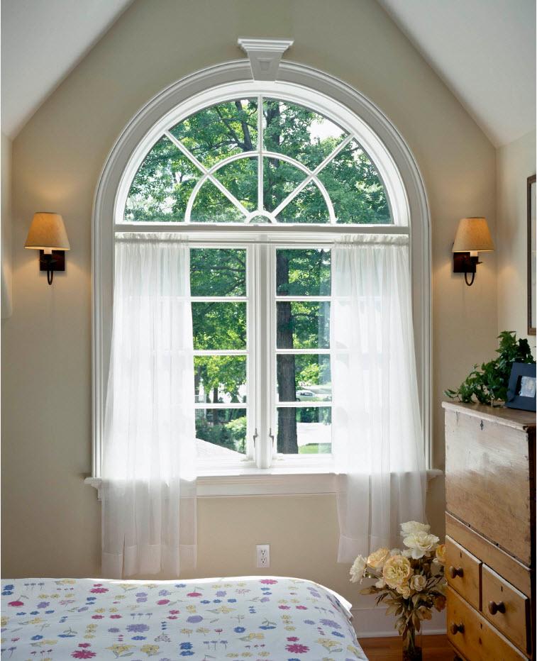 Шторы для арочного окна
