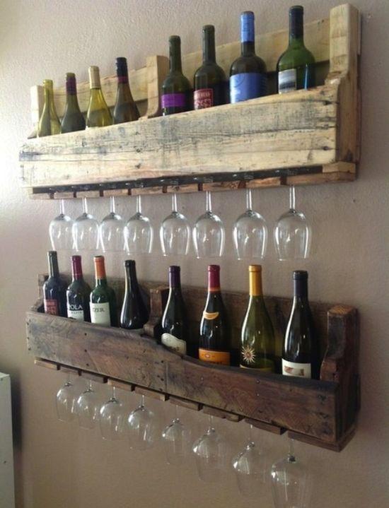 Полочки для бутылок и бокалов