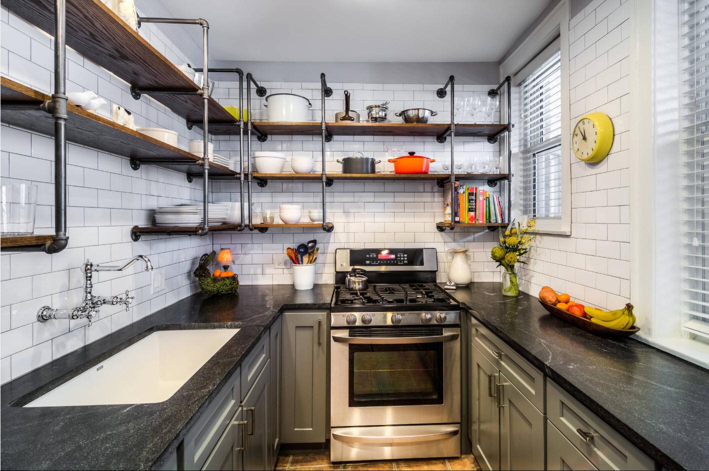 Необычные кухонные полки
