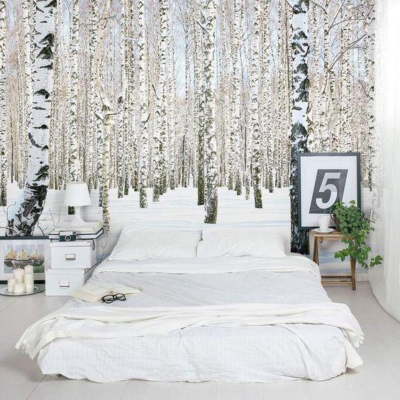 Березовая роща в спальне