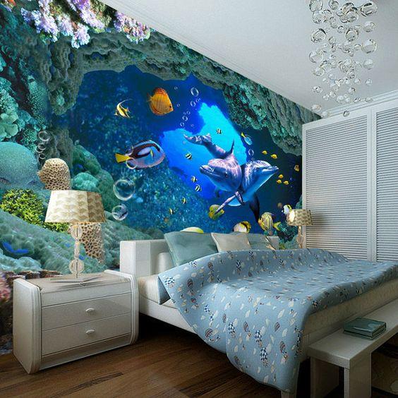 Морской мир в спальне
