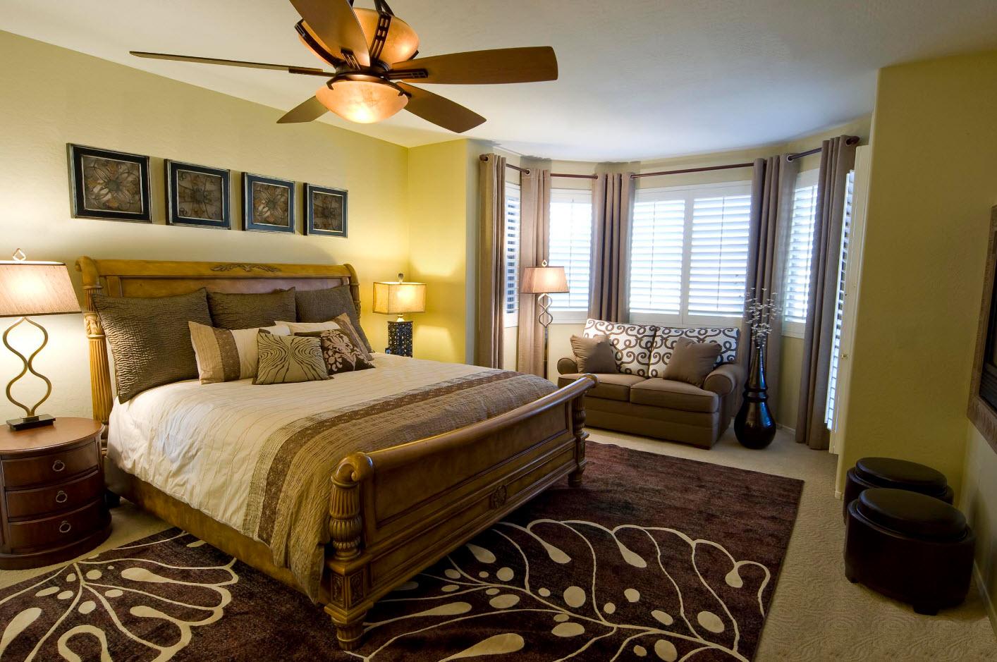 Спальня с зонами дизайн
